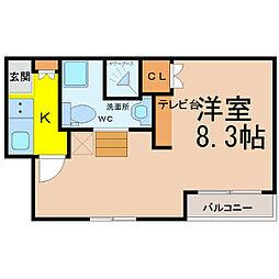 愛知県名古屋市西区則武新町3丁目の賃貸アパートの間取り