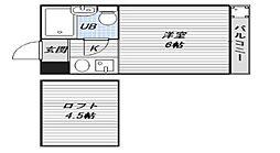シティパレス駒川中野[3階]の間取り