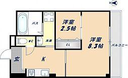 K.bid[3階]の間取り