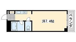 ロンネスト WAVE HOUSE[401号室]の間取り