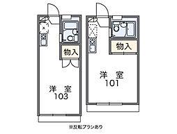 泉北高速鉄道 和泉中央駅 徒歩15分の賃貸アパート 2階1Kの間取り