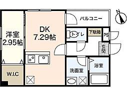 仮称)セブンプロート坪井A棟[1階]の間取り