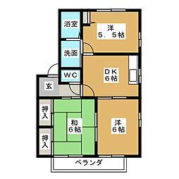 クオリティハウス[2階]の間取り