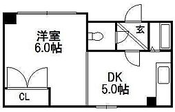 プレステージ45[402号室]の間取り