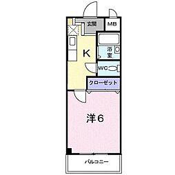 澤田マンション[5階]の間取り