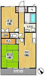 神奈川県横浜市戸塚区原宿2丁目の賃貸マンションの間取り