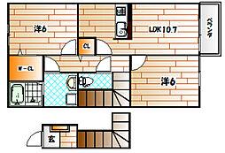 レジナスIII[2階]の間取り