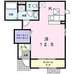 コ−ポサンパ−ル[0103号室]の間取り