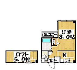 福岡県大野城市錦町4丁目の賃貸マンションの間取り