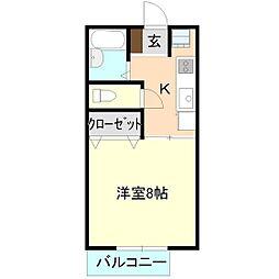 メルサーレ[2階]の間取り