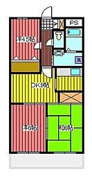 弥平ハイツ[4階]の間取り
