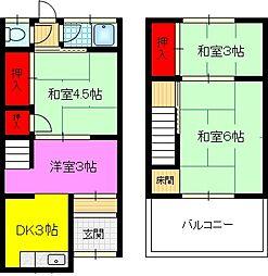 [テラスハウス] 大阪府東大阪市新庄2丁目 の賃貸【/】の間取り