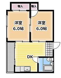 パールマンション[302号室]の間取り