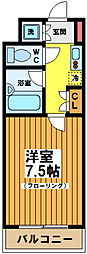 東京都渋谷区本町5丁目の賃貸マンションの間取り