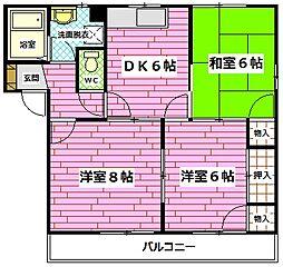 ディアス川内A棟[2階]の間取り
