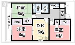 ノーザンライツ3[3階]の間取り