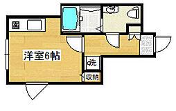 東京都練馬区関町南3丁目の賃貸アパートの間取り