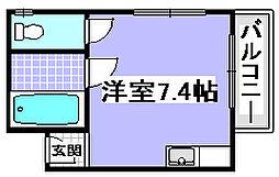 フォレスト桃山[201号室]の間取り