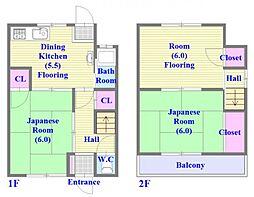[一戸建] 兵庫県神戸市垂水区西舞子3丁目 の賃貸【/】の間取り