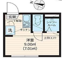 Nano北新宿[202号室号室]の間取り