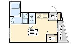 兵庫県姫路市青山5丁目の賃貸マンションの間取り