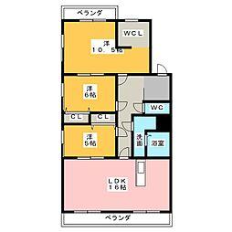 高坂ハイツ[1階]の間取り