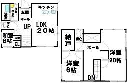 [一戸建] 香川県高松市下田井町 の賃貸【/】の間取り
