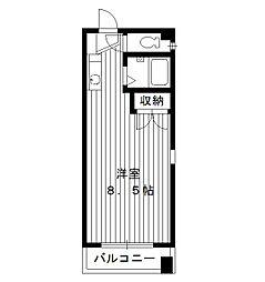 東京都中野区江原町2丁目の賃貸マンションの間取り