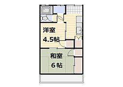 コーポ新井[201号室]の間取り