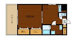 兵庫県尼崎市開明町2丁目の賃貸マンションの間取り