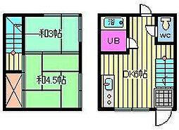 [テラスハウス] 埼玉県さいたま市大宮区宮町3丁目 の賃貸【/】の間取り