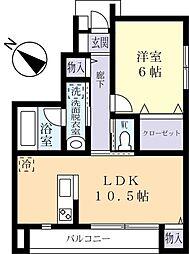 Land scape C 1階1LDKの間取り