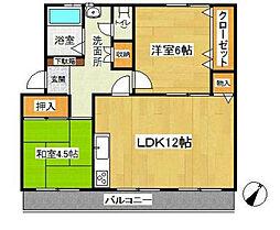 名瀬マンション[3階]の間取り
