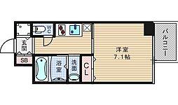 アール大阪グランデ[5階]の間取り