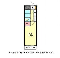 愛知県小牧市大字西之島の賃貸マンションの間取り