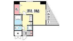 ロイヤルヒル神戸三ノ宮II[201号室]の間取り