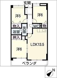 エミナンス社台[4階]の間取り