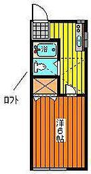 フィールファイン柳田[205号室]の間取り