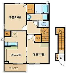 エミュール5[2階]の間取り