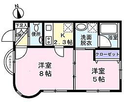 Le ciel ogura(ル シエル オグラ) 1階2Kの間取り