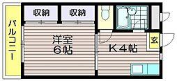 東京都調布市緑ケ丘1の賃貸マンションの間取り