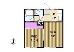 富士ハイツC号棟[103号室]の間取り
