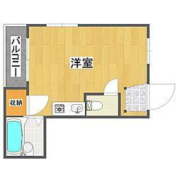 レナジア中加賀屋[5階]の間取り