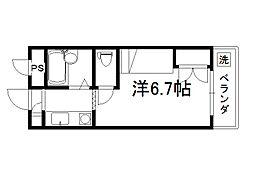 セレーネ田辺4[209号室]の間取り