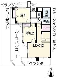 アネックス稲沢駅前[6階]の間取り