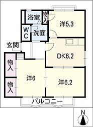 エントピア京町[2階]の間取り