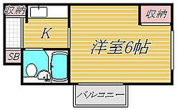 ジュネス目黒[3階]の間取り