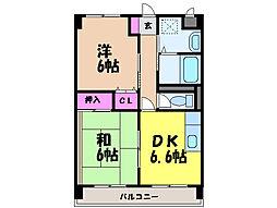 愛媛県松山市朝生田町4丁目の賃貸マンションの間取り