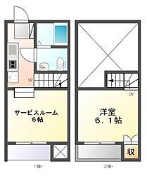 グランコンフォール米野IV[2階]の間取り