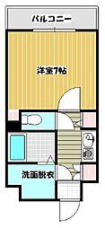 福岡県久留米市通町の賃貸マンションの間取り